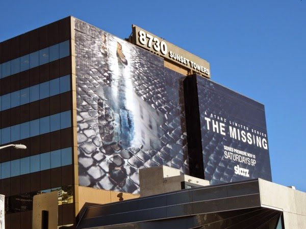 The Missing giant Starz billboard