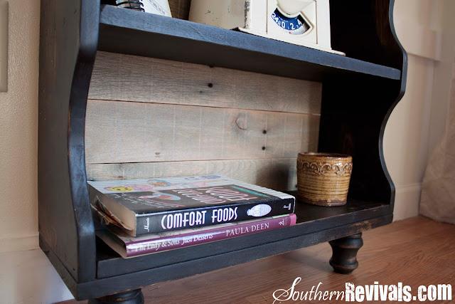 Custom Built Pallet Wood Bookshelf Pottery Barn Style