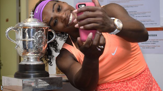 Serena Williams - French Open 2015 winner