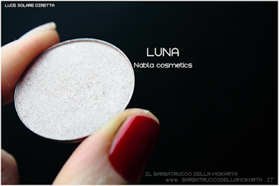 LUNA review  eyeshadow ombretto  goldust collection Nabla cosmetics