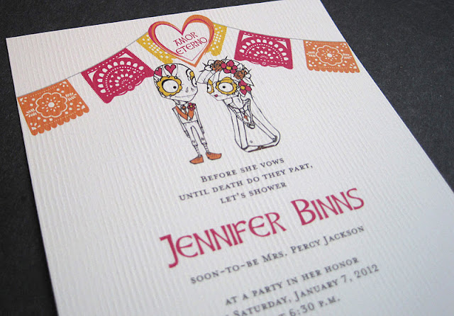 Day Of The Dead Wedding Invitations: The Inviting Pear Photoblog: Day Of The Dead Bridal Shower