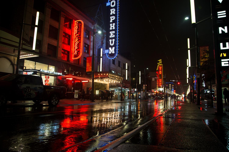 Vancouver City Night Life