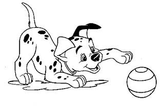 risco filhote dalmata com bola
