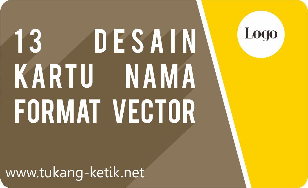 Download 14 Desain Kartu Nama Format cdr Gratis Free ...