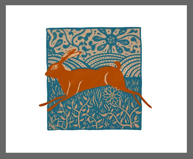 Here Hare Here. Giclée archival print on Hahnemuhle German Etching Paper