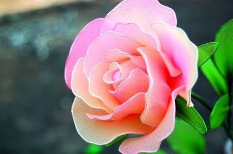 nylonowe kwiaty tutoriale