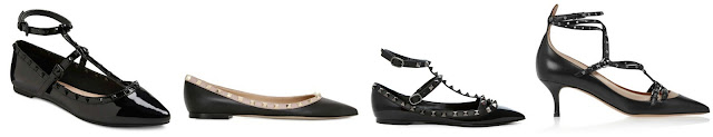 Three of these pairs of studded shoes are from Valentino for hundreds of dollars and one is on clearance at Target for $17. Can you guess which one is the more affordable pair? Click the links below to see if you are correct!
