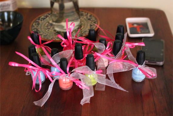 Nail Polish Shower Favors // Bubby and Bean