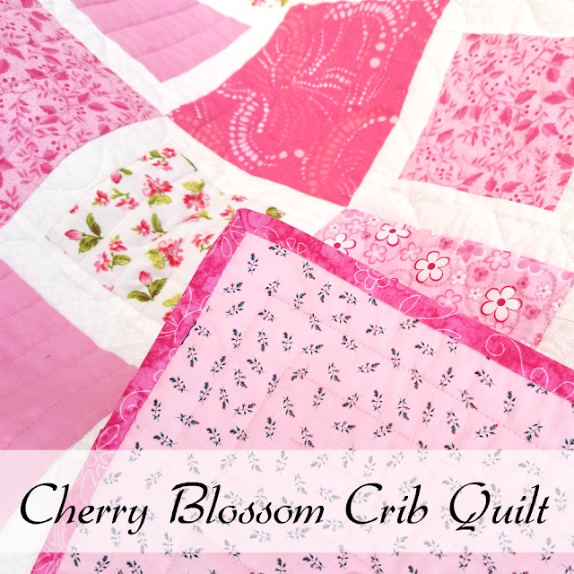 The fourth quilt in my crib quilt project. Completed! (c) Oak Hill Homestead