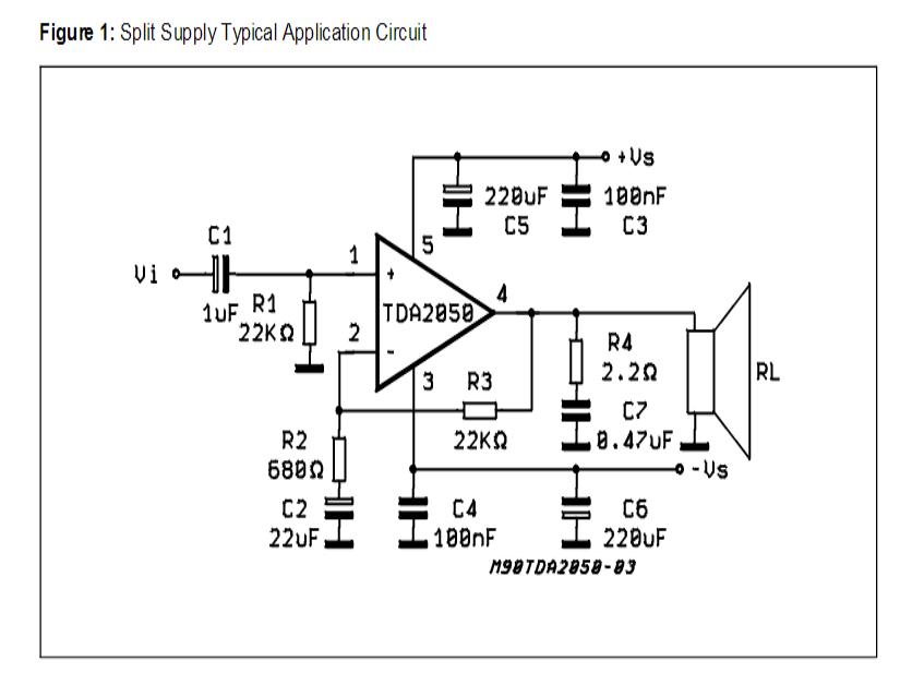 32 Watt Amplifier Circuit Using Tda