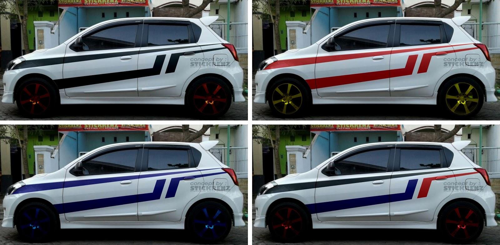 STICKRENZ: Datsun Go Panca White - Custom Stripe Concept ...