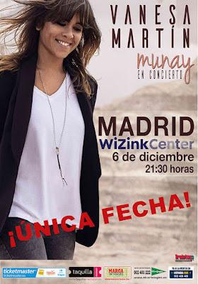 VANESA MARTÍN y su esperado concierto en la capital.