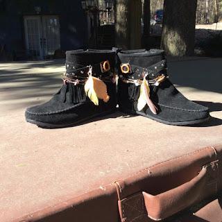 La Bella Gitana - Boho Black Suede Boots