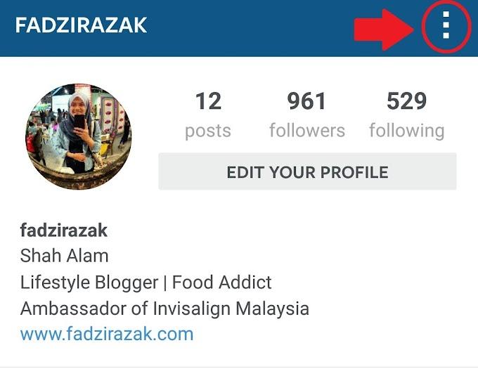 Cara Tambah Akaun Instagram Dalam Satu Masa