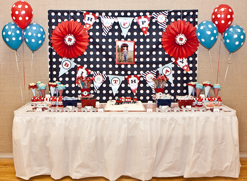 Karas Party Ideas Train Birthday Jpg 800x587 4th Themes