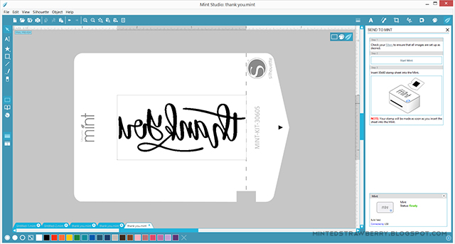 how to create stamp using silhouette mint