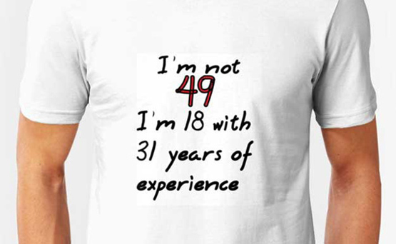 not 49 18 with 31 years experience