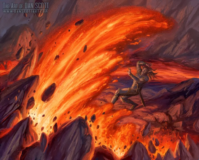 lava burst hearthstone card artwork fin the murloc