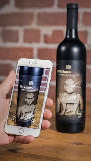 19 Crimes Wine labels talk to you through the free app