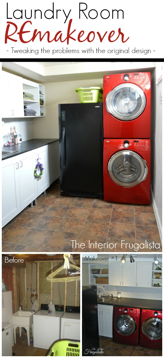 Three phases of a Basement Laundry Room
