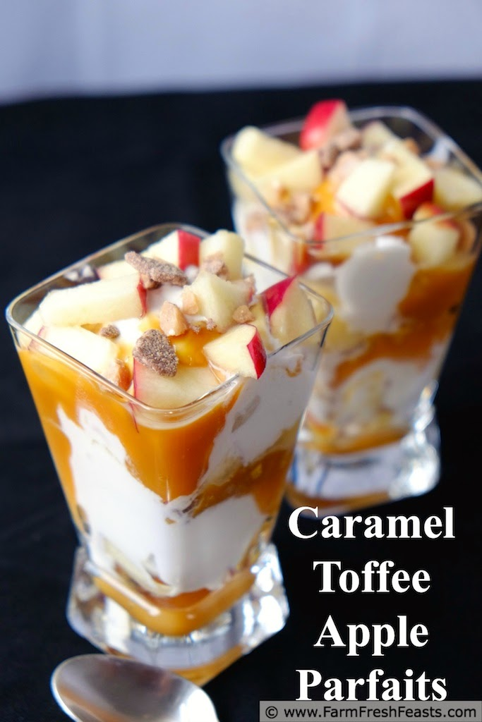 Caramel Toffee Apple Parfaits With Cream Cheese Ice Cream | Farm Fresh Feasts