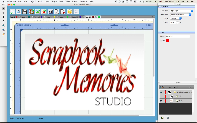 Scrapbook Memories Sizzix Tutorial On Eclips2 Print 2