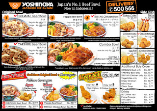No Telp Call Center Yoshinoya Delivery Terbaru