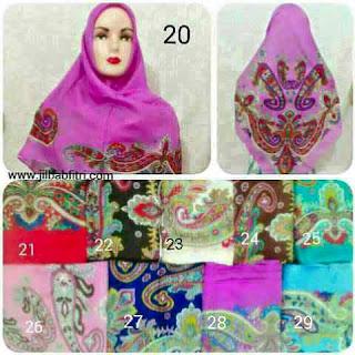 jilbab segiempat umama scarf motif bunga