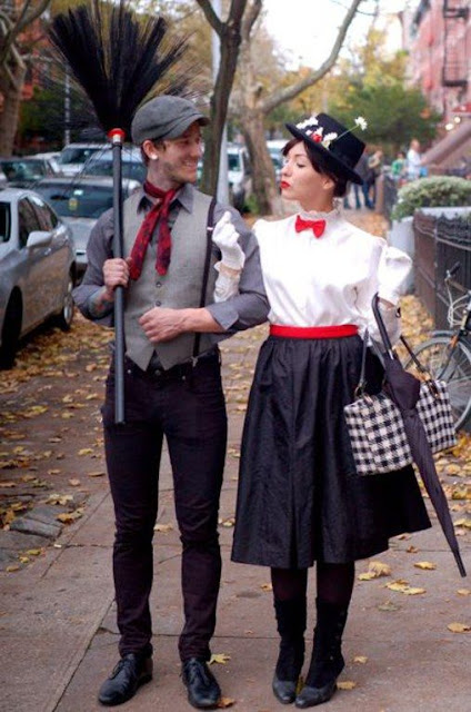 DIY Mary Poppins and Bert costumes - and many other modest Halloween costume ideas!