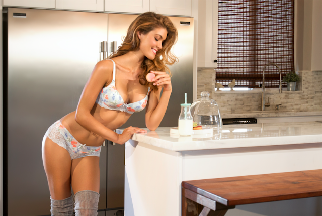 Sexy Bra & Underwear in Kitchen