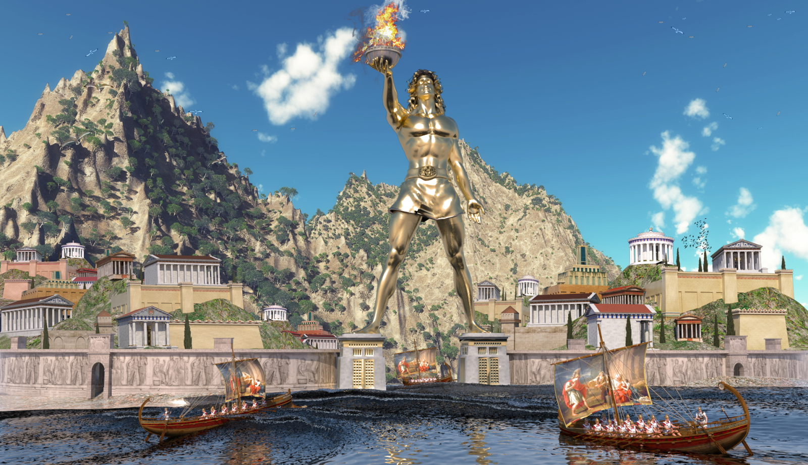 Misteri dunia colossus of rhodes