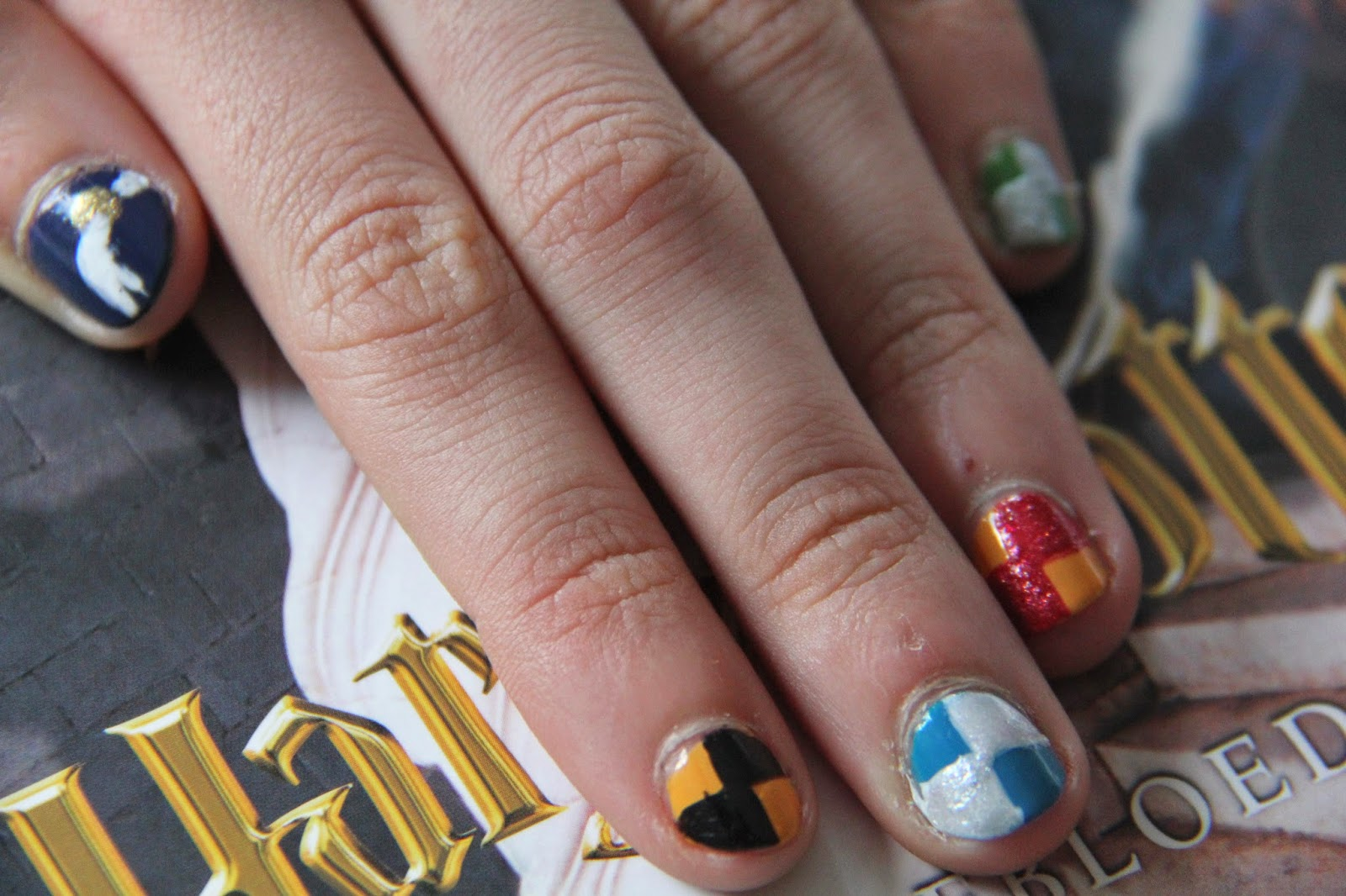 Lollovelife Harry Potter Nail Art The Four Houses Of Hogwarts