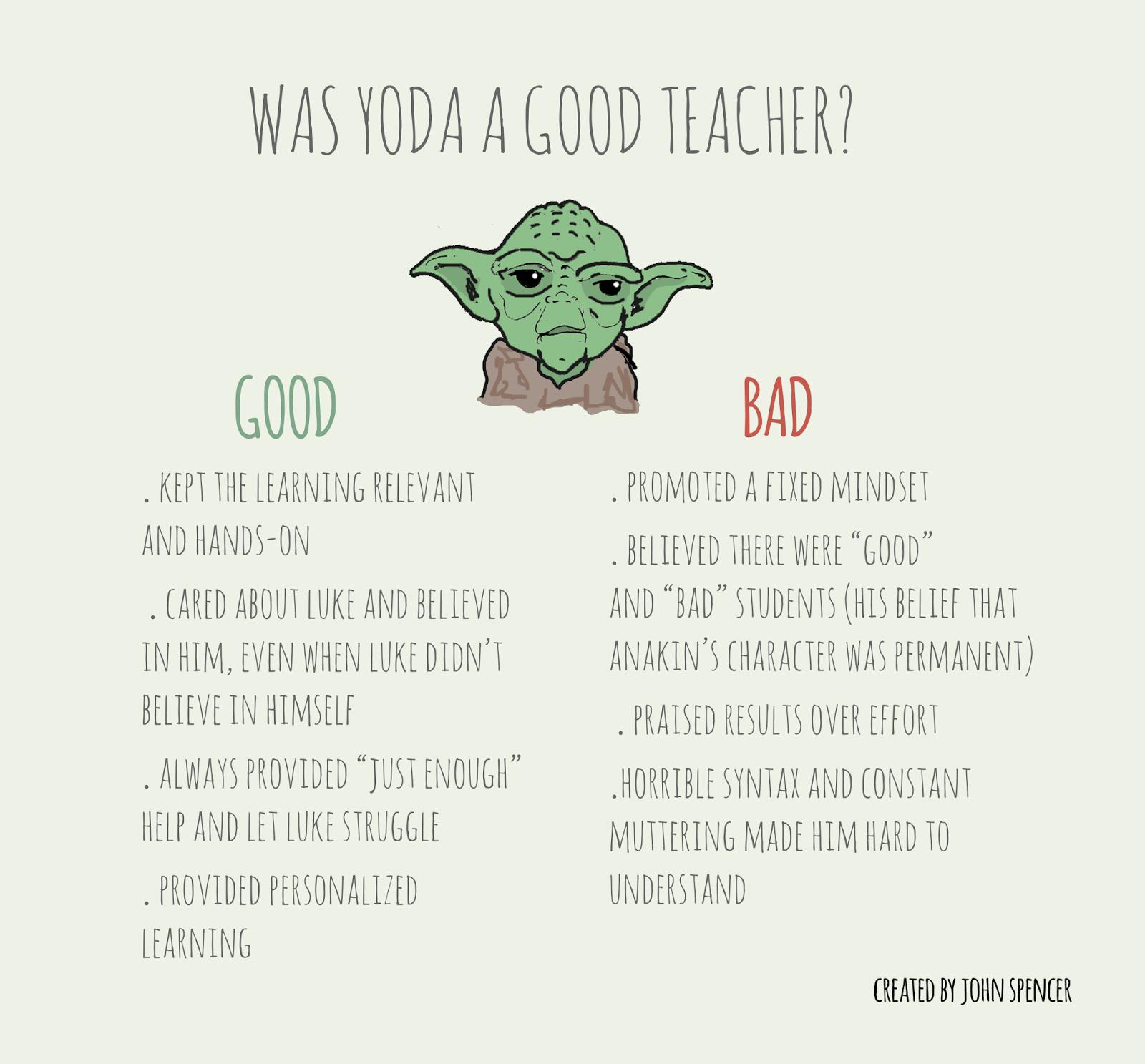 good teacher essay good person essay how to write a good  was yoda a good teacher john spencer why yoda was an bad teacher