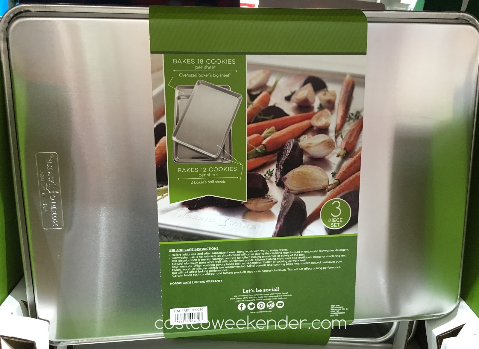 Nordic Ware 3 Piece Aluminum Baking Sheet Set Costco