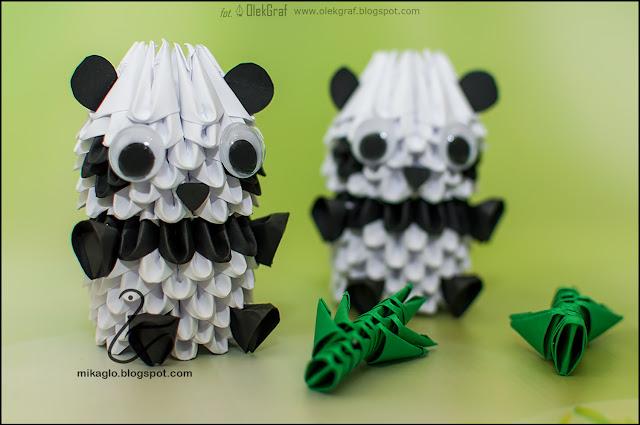 538. Pandy z origami 3d / 3d origami pandas