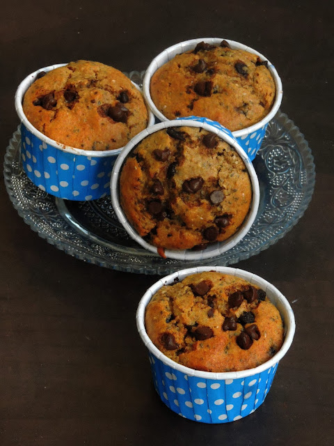 Chia Seeds & Chocolate Chips Rye Flour Muffins