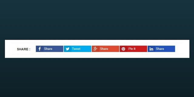 Social Share Button For Blogger