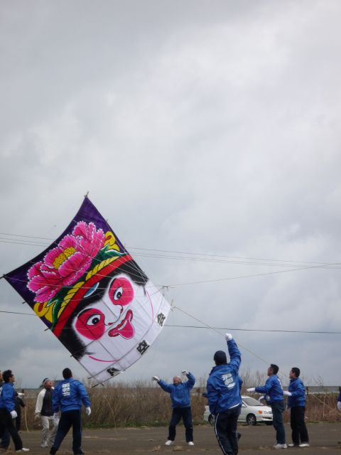 Noshiro Takoage Taikai (flying kite event), Noshiro City, Akita