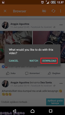 New Tutorial Download Video DiFacebook Melalui Hp Dengan Mudah 2018