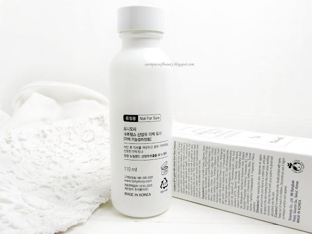 Осветляющий тонер с козьим молоком от Tony Moly / блог A piece of beauty