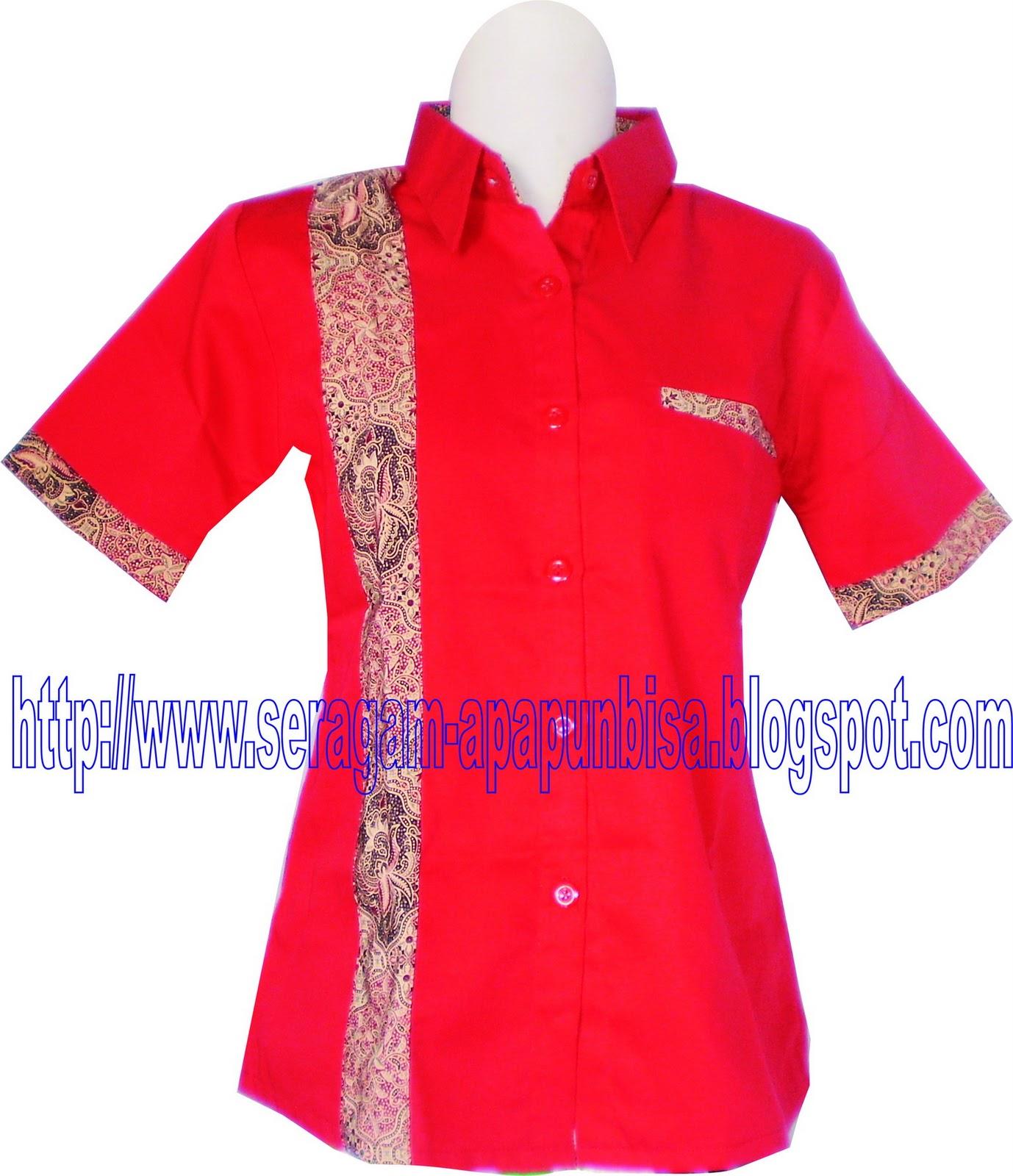 SERAGAM APAPUN BISA Seragam Kemeja Kombinasi Batik