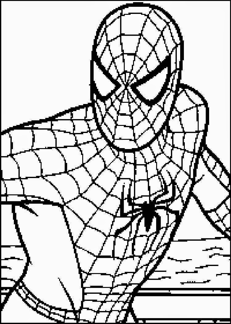 Coloring pages spiderman free printable coloring pages for Spiderman coloring book pages