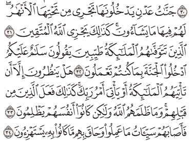 Tafsir Surat An-Nahl Ayat 31, 32, 33, 34, 35