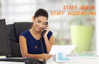Loker Lampung Terbaru Oktober 2016 Sebagai Admin dan Staff Accounting