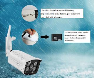 telecamera ip camera wifi esterno p2p
