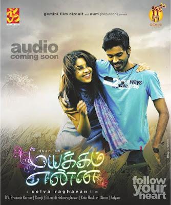 Mayakkam Enna Mp Songs Download Mayakkam Enna Latest Tamil Songs Free