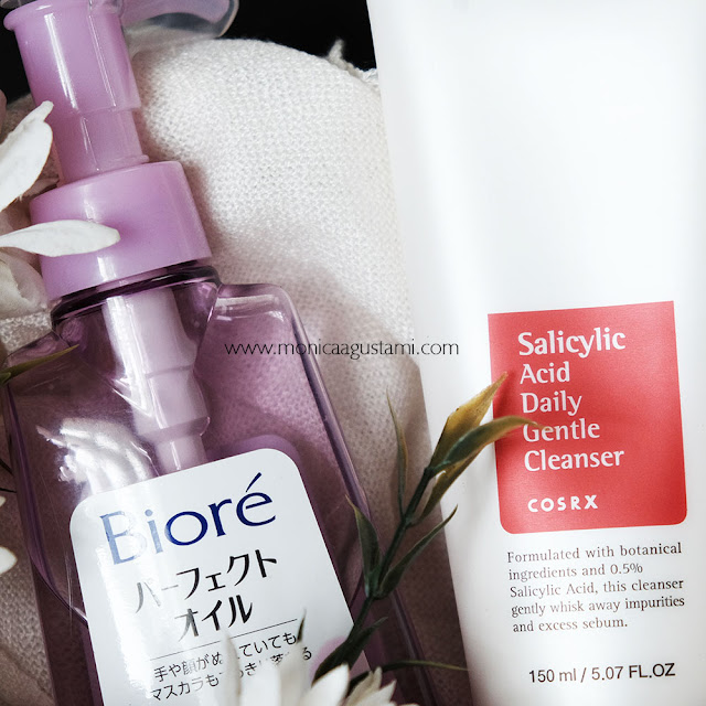 Biore Cleansing Oil dan Cosrx Salicylic Acid Daily Gentle Cleanser