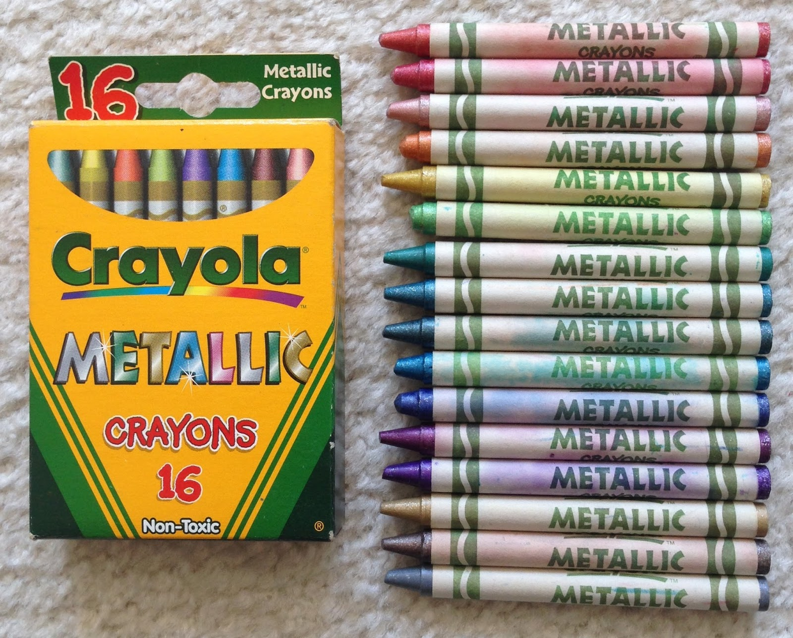2-Pack of 16 Crayola Metallic FX Crayons
