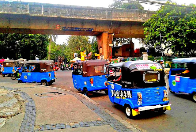 The View of Bajaj on Jakarta's Street