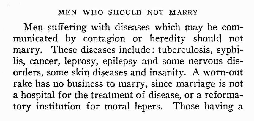 Men who should not marry 1922